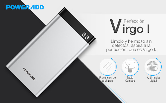 Batería externa Poweradd Virgo