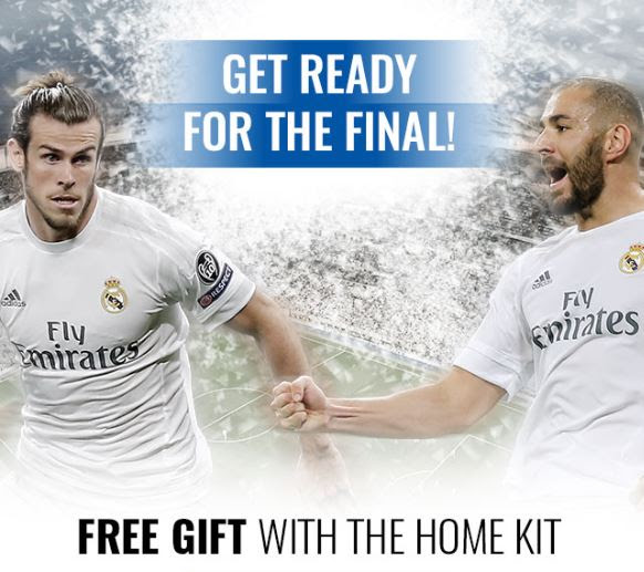 Free Gift  With Home Kit Real Madrid