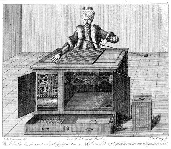 teknologi catur, the mechanical turk, perkembangan teknologi catur, mesin catur, catur, dewa kipas