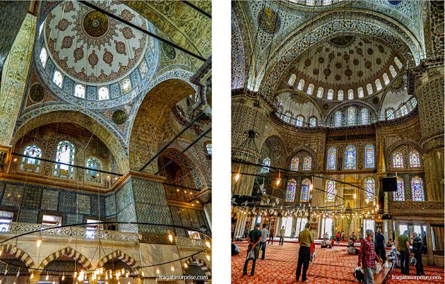 Interior da Mesquita Azul de Istambul