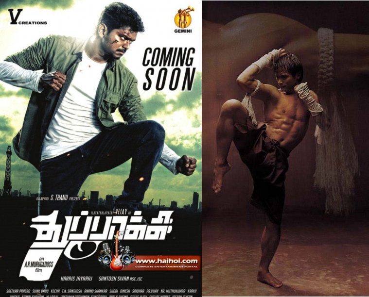 Thuppaki Poster Copied from Tony Jaa's Ong Bak