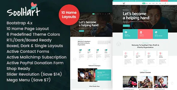 Best Charity NonProfit HTML Template