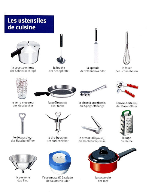 بعض الاواني بالفرنسية
