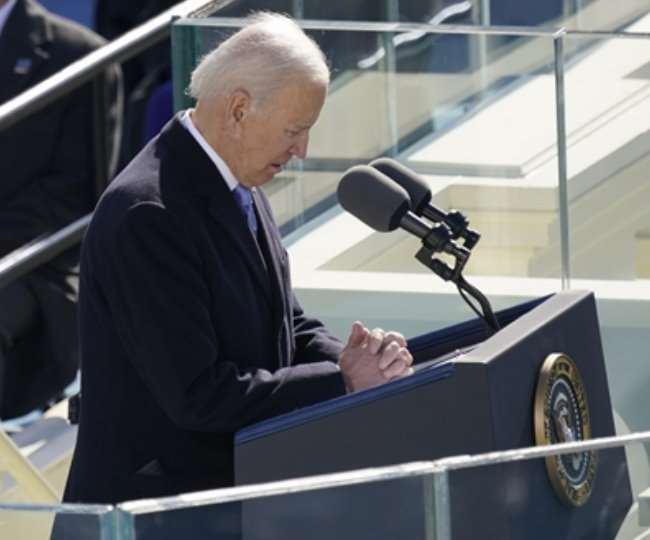 Joe Biden sworn in as 46th President of the United States, Also followed by Kamala Harris, Kamala Harris, Joe Biden, New US President, US President, 46th President, United States, President, Kamala, joe, biden, harris