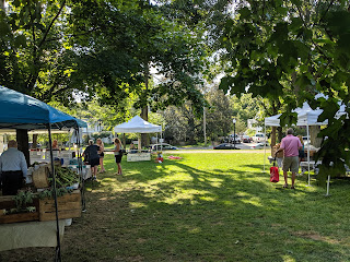 Farmers Market at the Town Common on a nice summer Friday afternoon