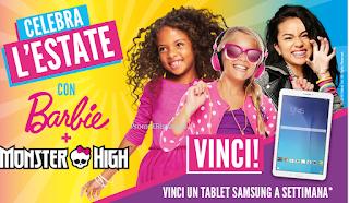Logo Concorso Celebra l'estate con Barbier e Monster High e vinci Tablet Samsung