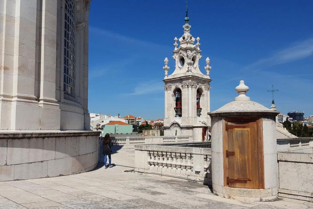 Lissabon Basilica da Estrela Kuppel Dach