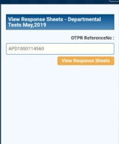 Response sheets for Notification No. 13/2019  -APPSC May/2019 Notification