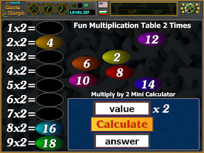 Multiplication Table 2 Times