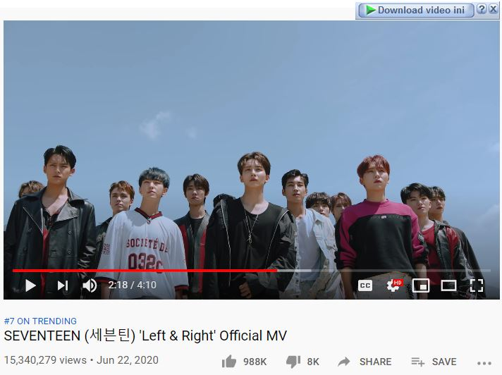 download lagu seventeen left and right