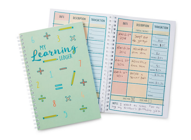 Financial Learning Ledger for Kids from Uncommon Goods