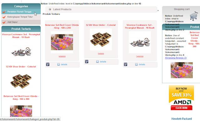 Program Toko Online Peralatan Rumah Tangga phpmysql