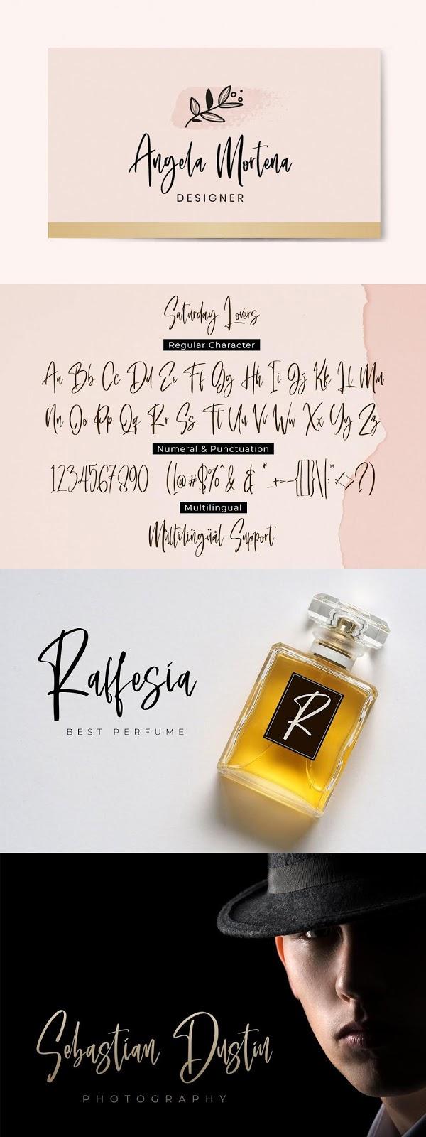 Saturday Lovers Classy Handwritten