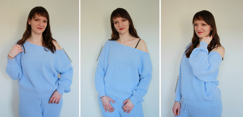 Off The Shoulder Knitted Loungewear