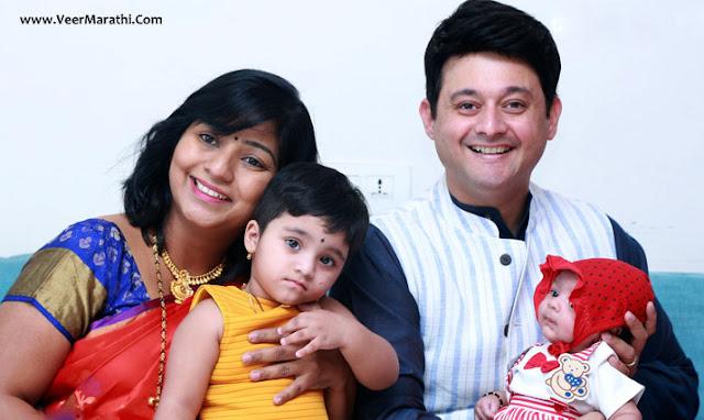 Swwapnil & his wife Leena Joshi gave birth to a baby boy