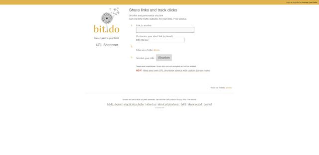 اختصار الروابط باستخدام Bit.do