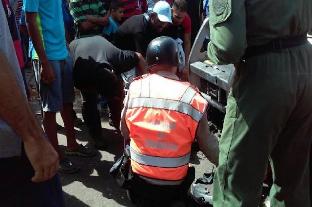 Vehículo del ejército atropelló y mató a un ciudadano en Maracaibo