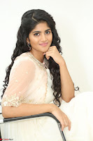 Megha Akash in beautiful Cream Transparent Anarkali Dress at Pre release function of Movie LIE ~ Celebrities Galleries 089.JPG