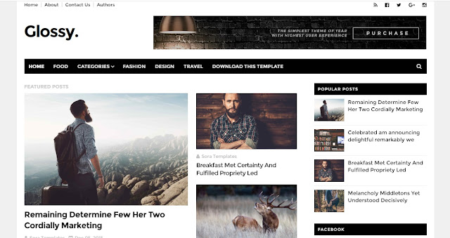 Glossy Free Blogger Template