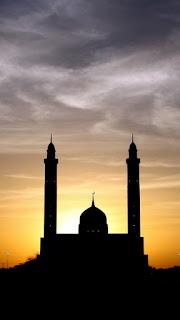 wallpaper siluet masjid islami