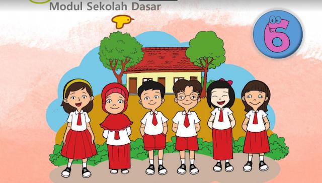 Inilah Modul Belajar Dari Rumah (BDR) Tema 2 Kelas 1 2 3 4 5 6 SD Tahun 2020