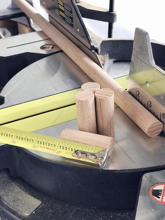 IHeart Organizing DIY Wood Peg Rail Organizer