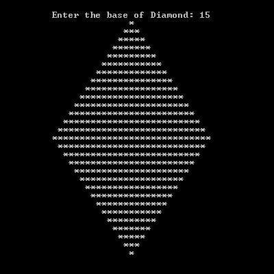 Diamond Shape in C++