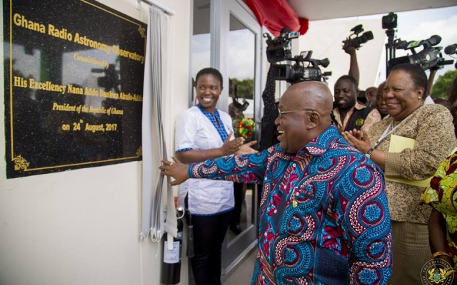 President Launches Ghana Radio Astronomy Observatory