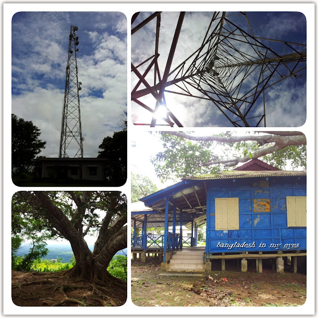 BTCL Exchange, Microwave tower, BTCL rest house, Chimbuk Hill