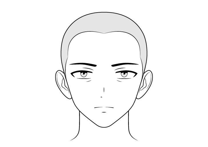 Menggambar wajah antek anime