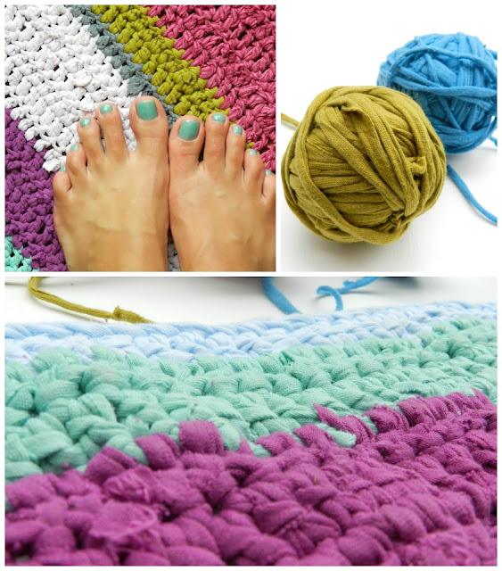 Free Crochet T-Shirt Rug Pattern by Elise Engh Studios