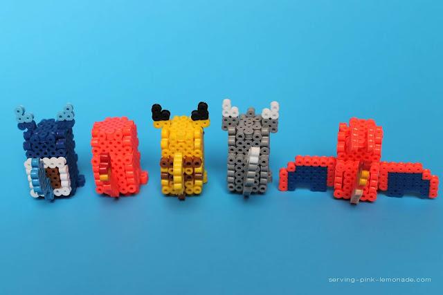 3D Perler Bead Pikachu