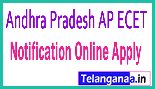 Andhra Pradesh AP ECET APECET 2019 Notification Online Apply