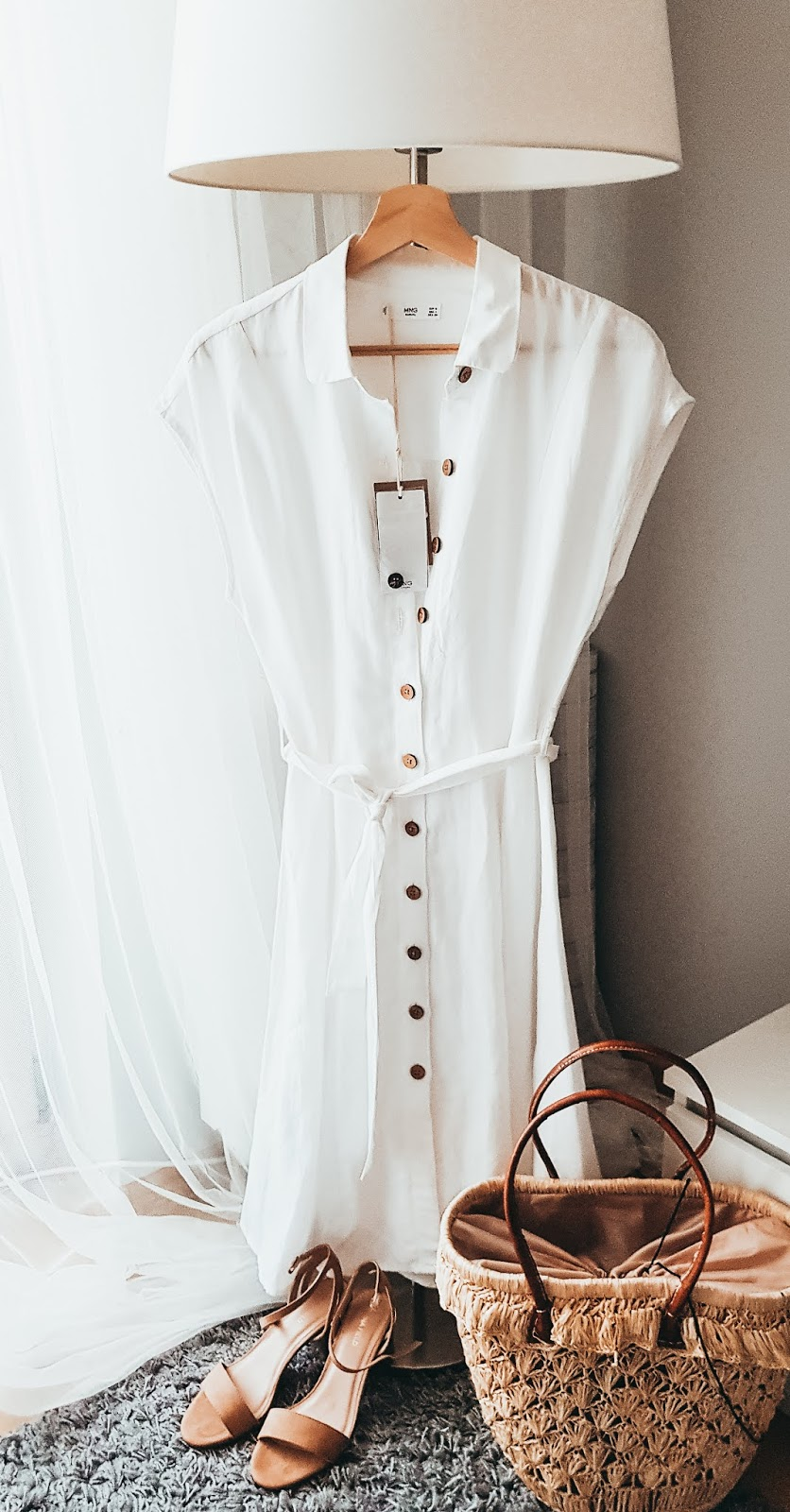 Szmizjerka na lato, lniana tkanina