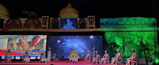 लवकुश रामलीला की लीला में पहले दिन शिव विवाह, इंद्र दरबार एवं रावण अत्याचार का मंचन