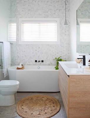 neutral light for small bathroom design