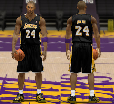 NBA 2K13 Lakers Black Jersey Patch