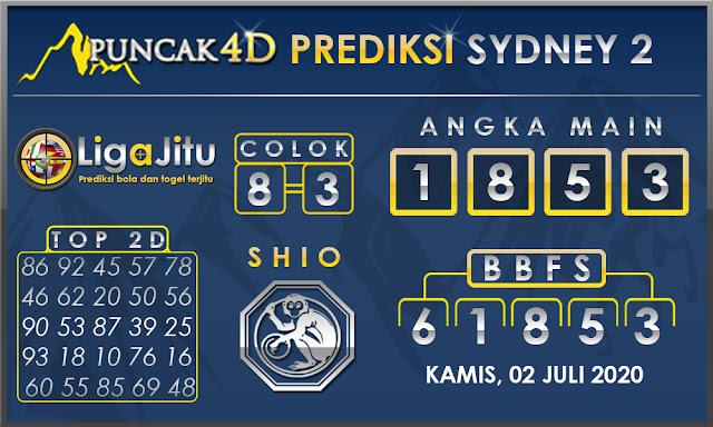 PREDIKSI TOGEL SYDNEY2 PUNCAK4D 02 JULI 2020