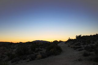 Heading west on Desert Queen Mine Trail for the final few minutes of my hike, Joshua Tree National Park