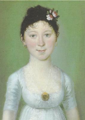 Portrait d'une Jeune Fille avec une Perle sur Une Broche en Or, Barbara Krafft