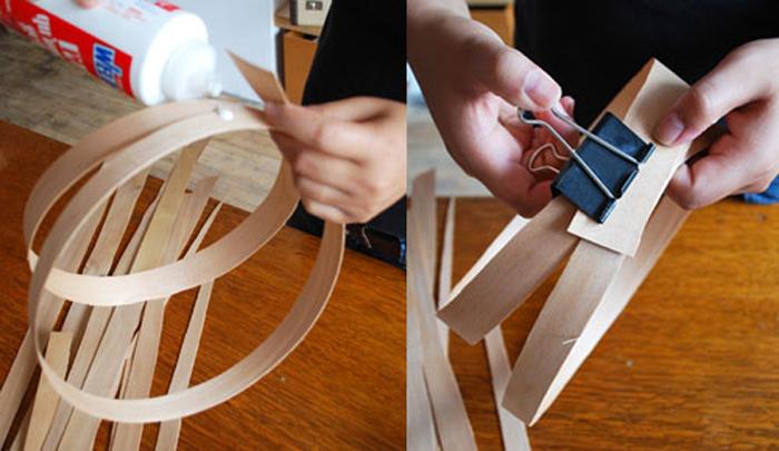DIY Lampu Rumah Dari Anyaman Kayu - Step 1-2