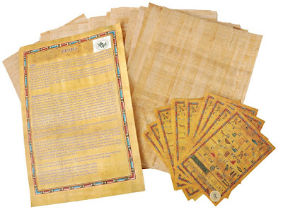10 blank Egyptian Papyrus sheets for arts, crafts, and school projects