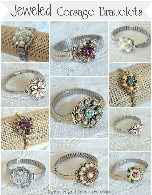 vintage earring and wrist watch bracelets