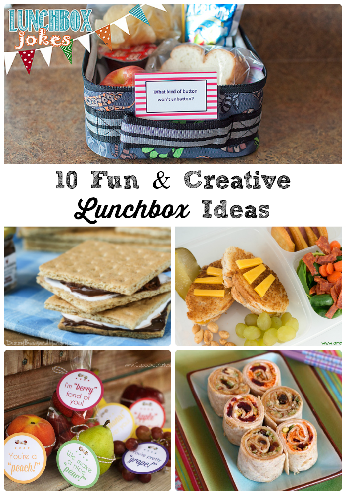 10 Fun & Creative Lunchbox Ideas- Need some fun lunch ideas for back to school? Then you are going to love these school lunches that think out of the lunchbox.