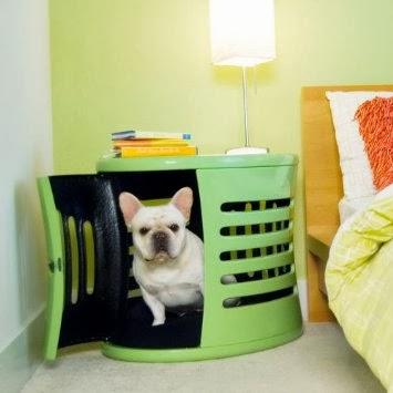 Medium Mint Green ZenHaus Hideaway Dog House Nightstand End Table
