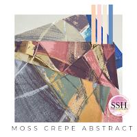 Moss Crepe Printed, Ironless Fabric