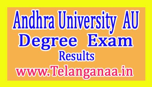 Andhra University (AU) Degree 1st Year 1s Sem Exam Results 2017