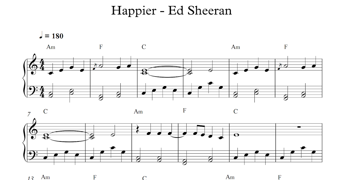 play popular music: Happier - Ed Sheeran