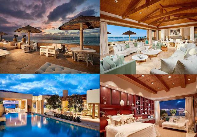 Casa de U$43 mihões que Bill Gates comprou no nível do oceano em Del Mar, San Diego, Califórnia.