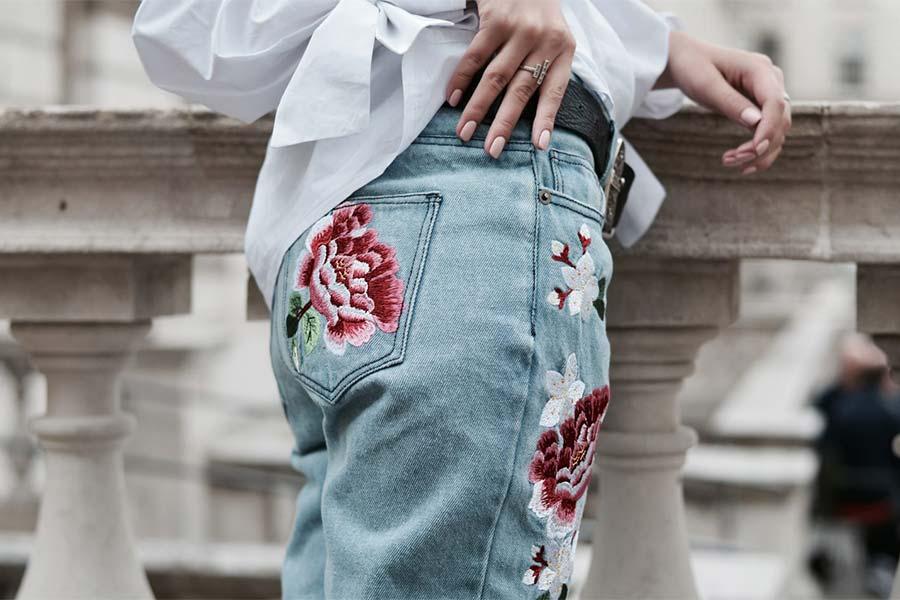 Tendência: Jeans Bordado